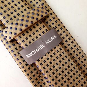 Michael Kors Taupe Polyester Designer Neck Tie